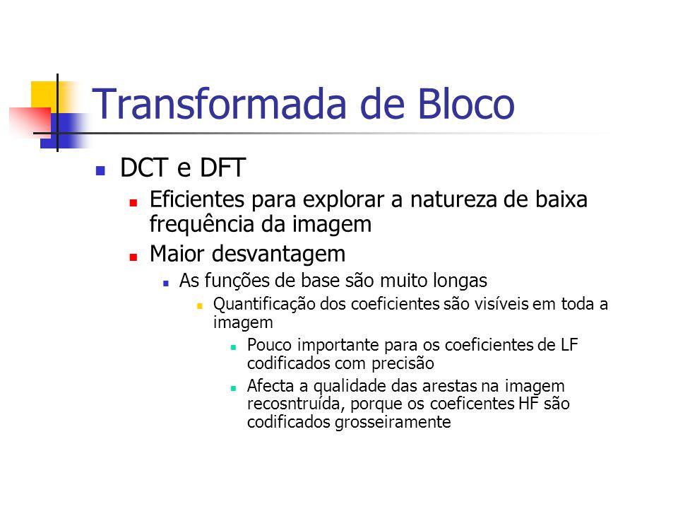 Transformada de Bloco DCT e DFT