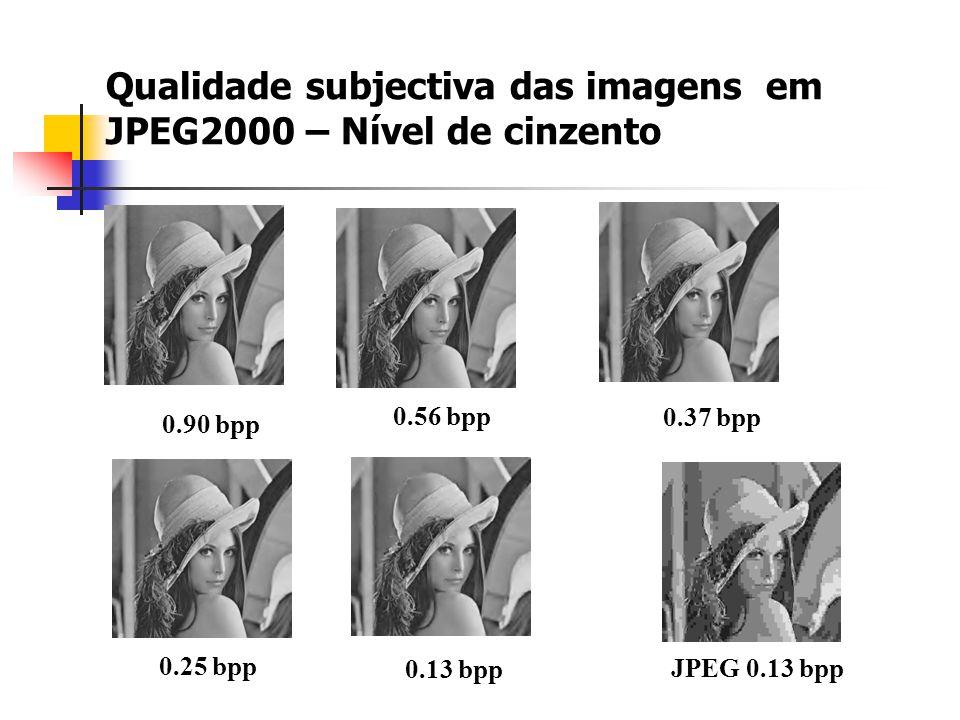 Qualidade subjectiva das imagens em JPEG2000 – Nível de cinzento