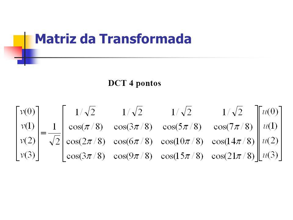 Matriz da Transformada