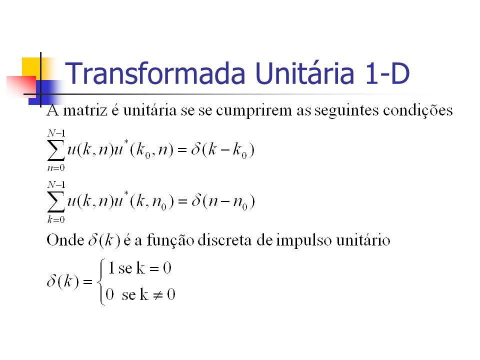 Transformada Unitária 1-D