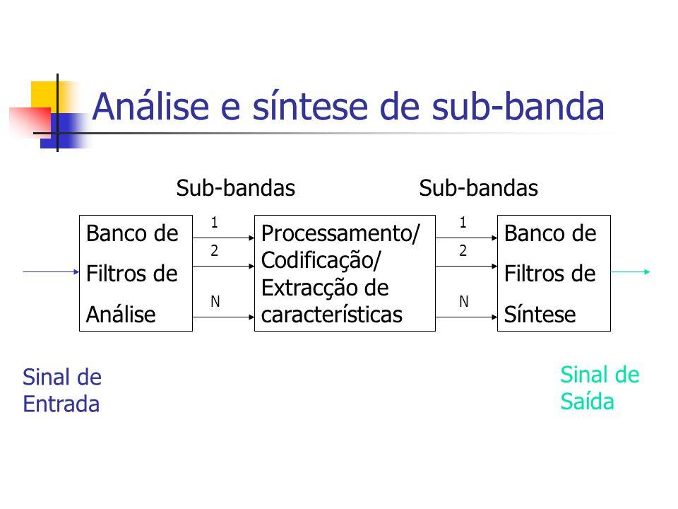 Análise e síntese de sub-banda