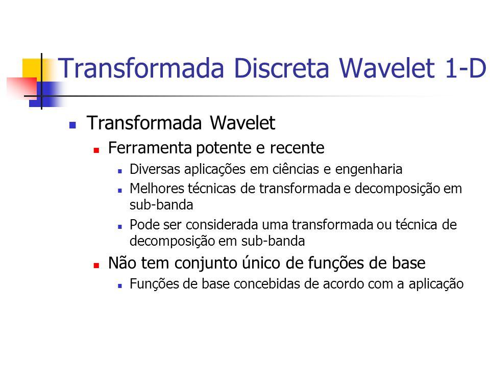 Transformada Discreta Wavelet 1-D