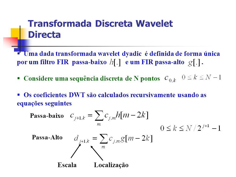 Transformada Discreta Wavelet Directa