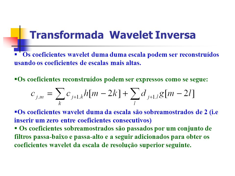 Transformada Wavelet Inversa