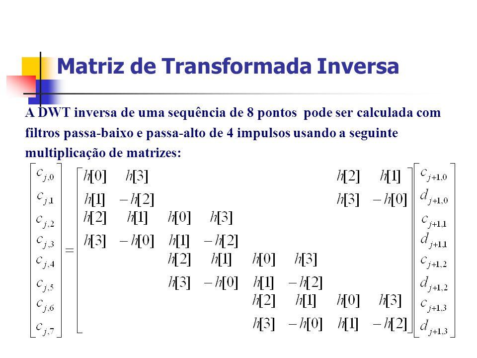 Matriz de Transformada Inversa