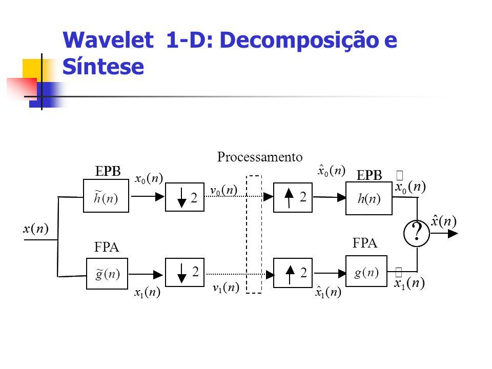 Wavelet 1-D: Decomposição e Síntese