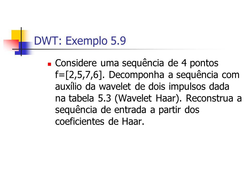 DWT: Exemplo 5.9