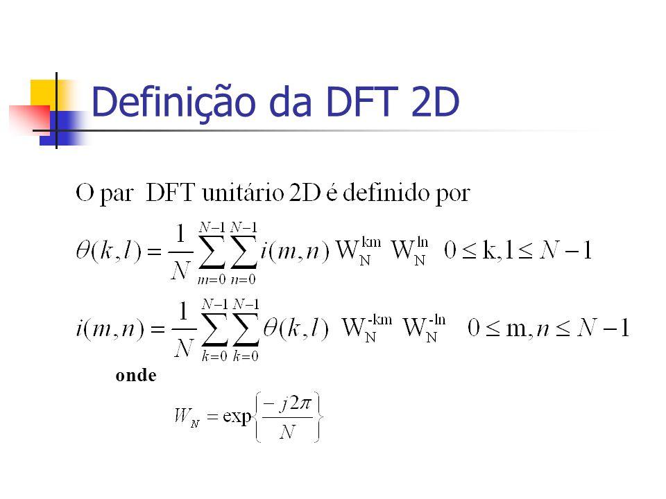 Definição da DFT 2D onde