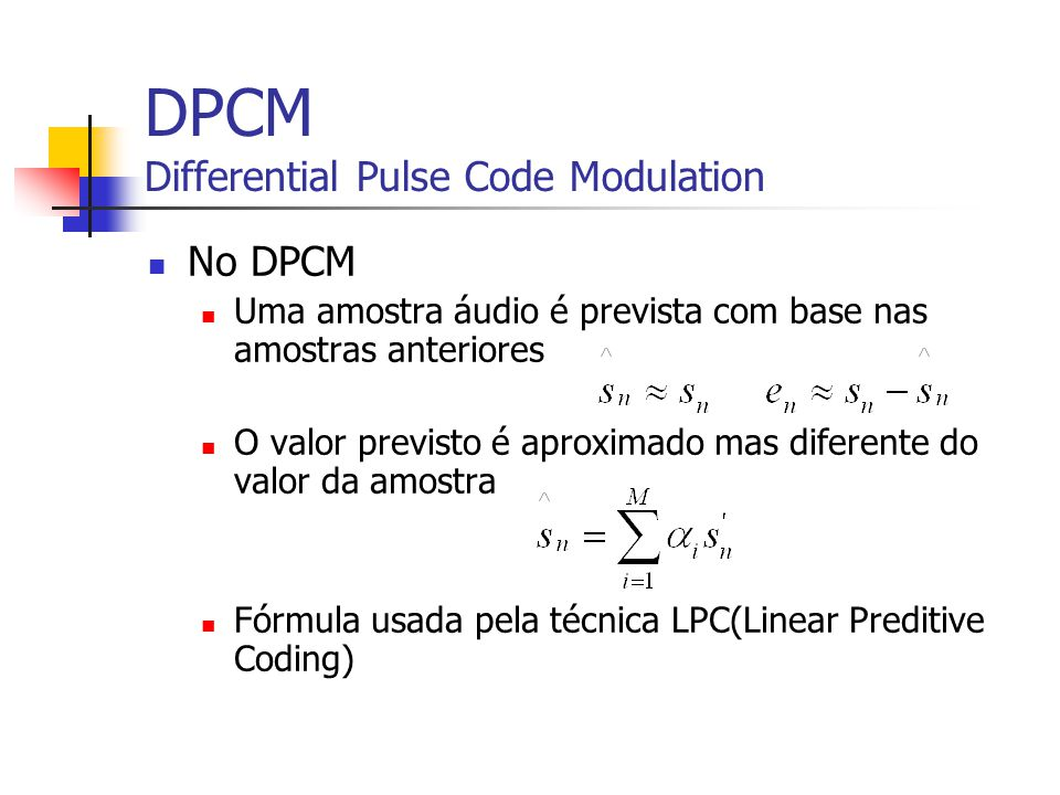 DPCM Differential Pulse Code Modulation