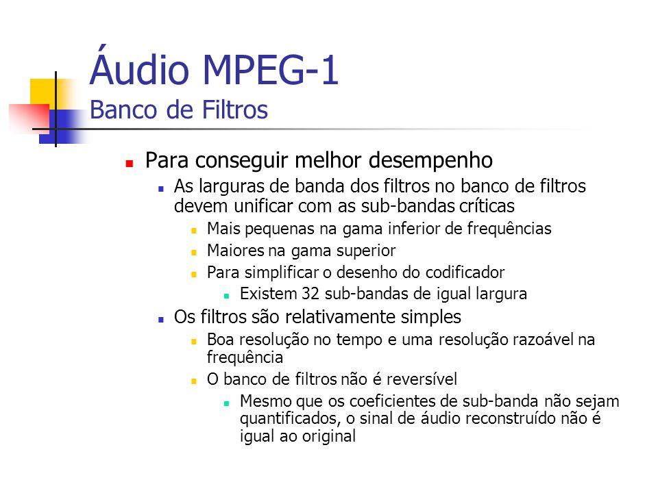 Áudio MPEG-1 Banco de Filtros