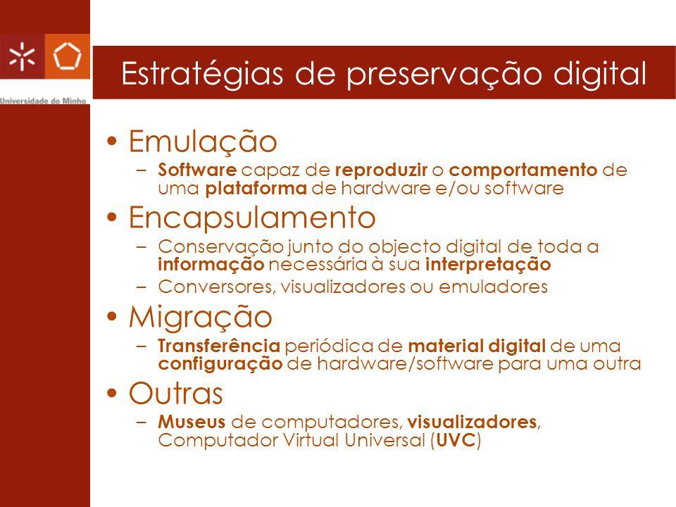 Estratégias de preservação digital