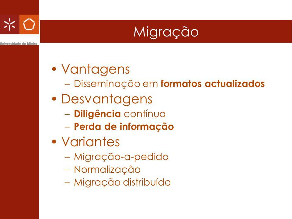 Migração Vantagens Desvantagens Variantes