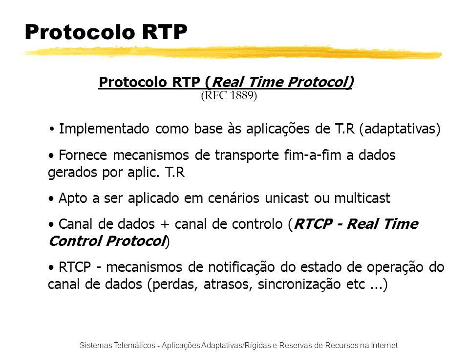 Protocolo RTP Protocolo RTP (Real Time Protocol)