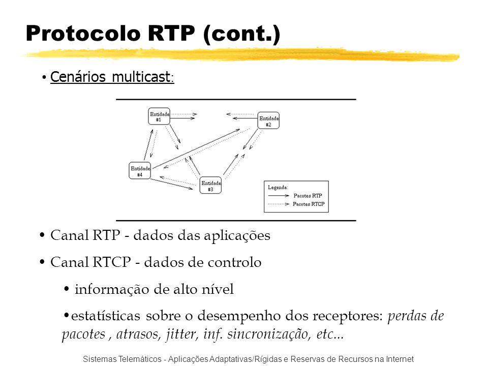 Protocolo RTP (cont.) Cenários multicast: