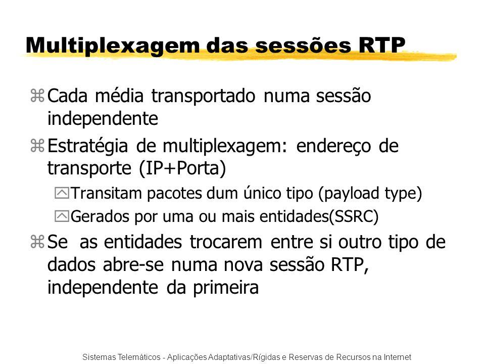 Multiplexagem das sessões RTP