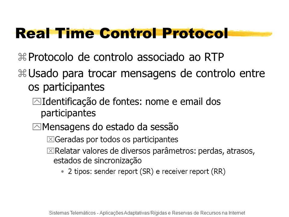 Real Time Control Protocol