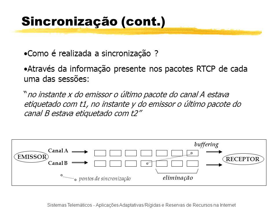 Sincronização (cont.) Como é realizada a sincronização