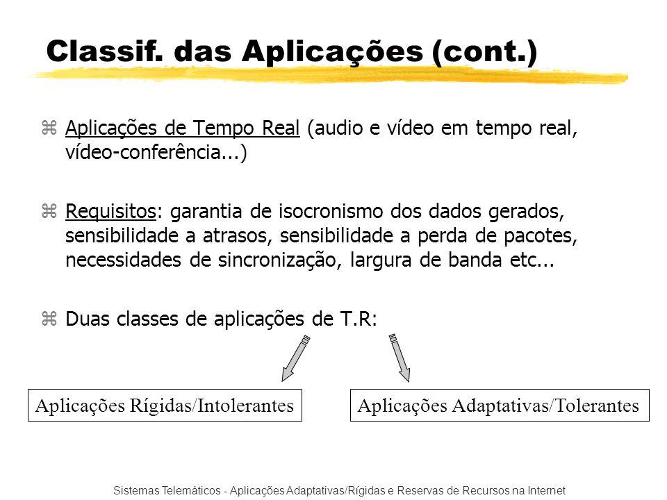 Classif. das Aplicações (cont.)