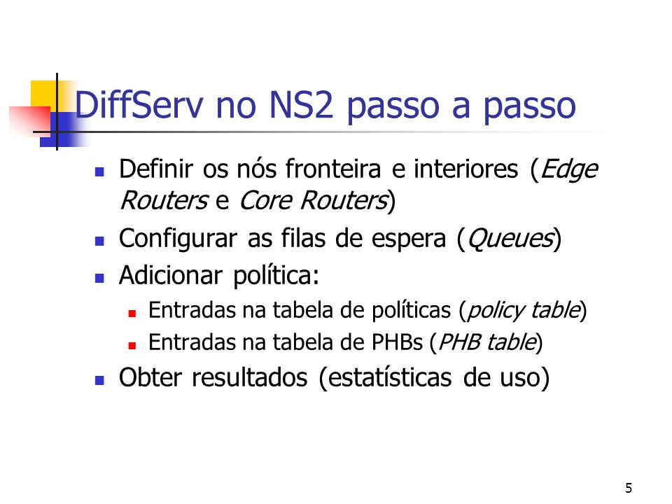 DiffServ no NS2 passo a passo