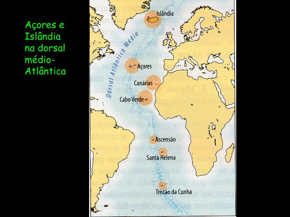 Açores e Islândia na dorsal médio-Atlântica