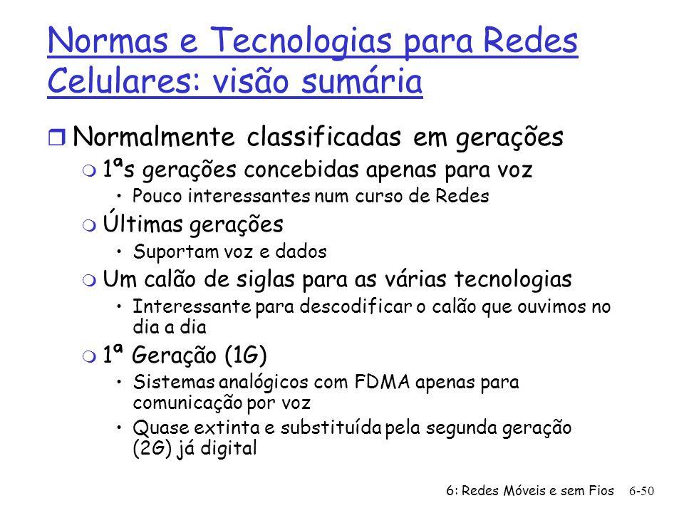 Normas e Tecnologias para Redes Celulares: visão sumária