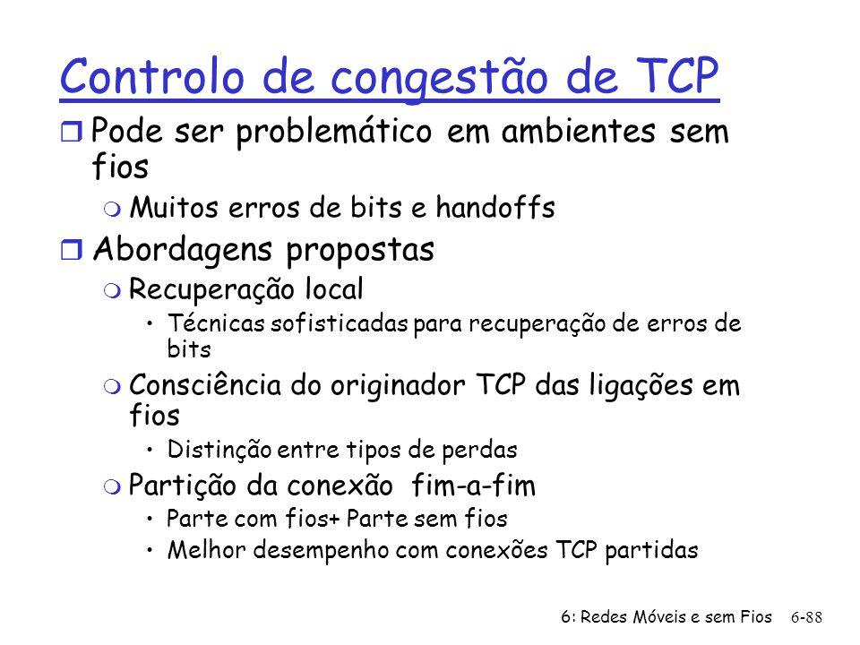 Controlo de congestão de TCP