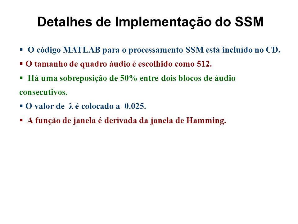 Detalhes de Implementação do SSM