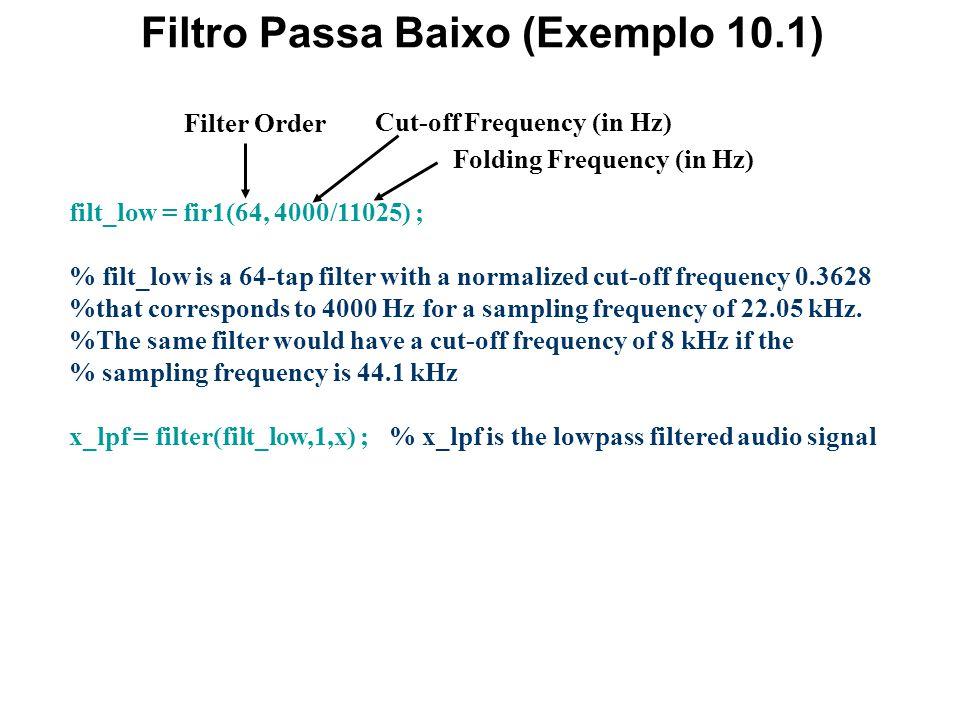 Filtro Passa Baixo (Exemplo 10.1)