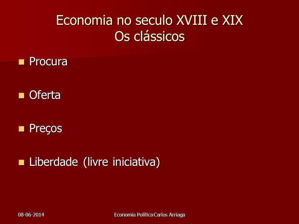 Economia no seculo XVIII e XIX Os clássicos