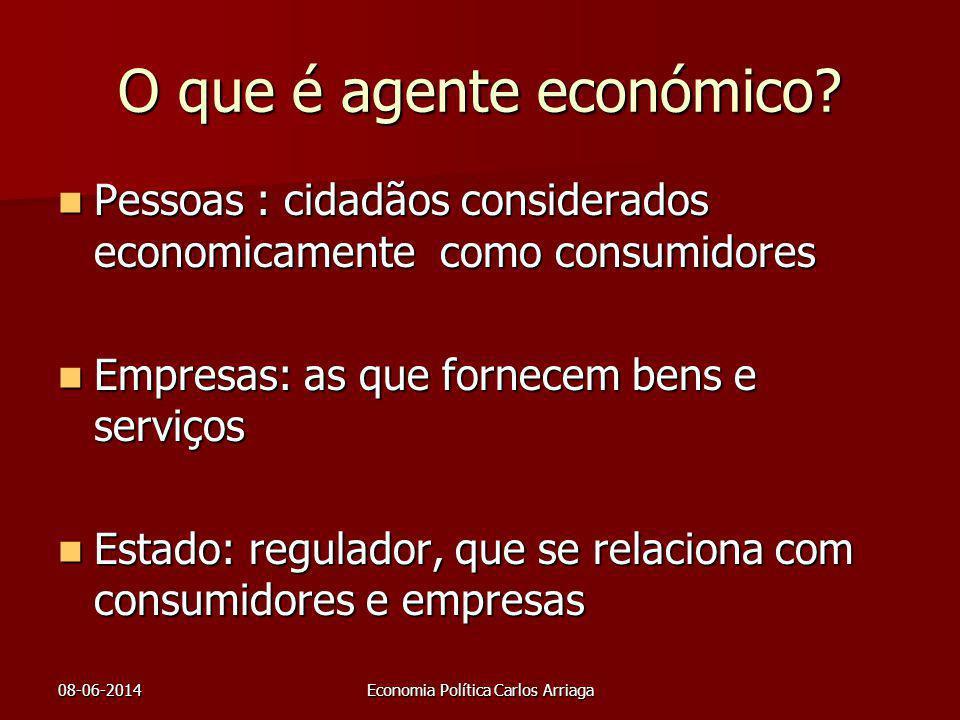 O que é agente económico