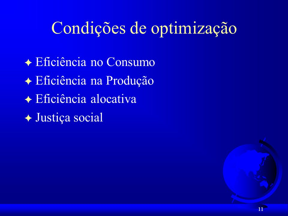 Condições de optimização