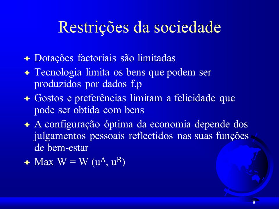 Restrições da sociedade