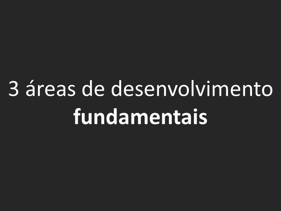 3 áreas de desenvolvimento