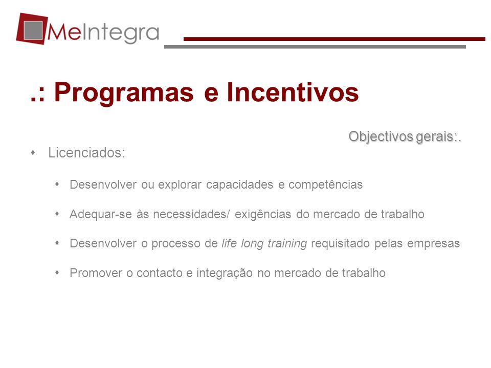 .: Programas e Incentivos