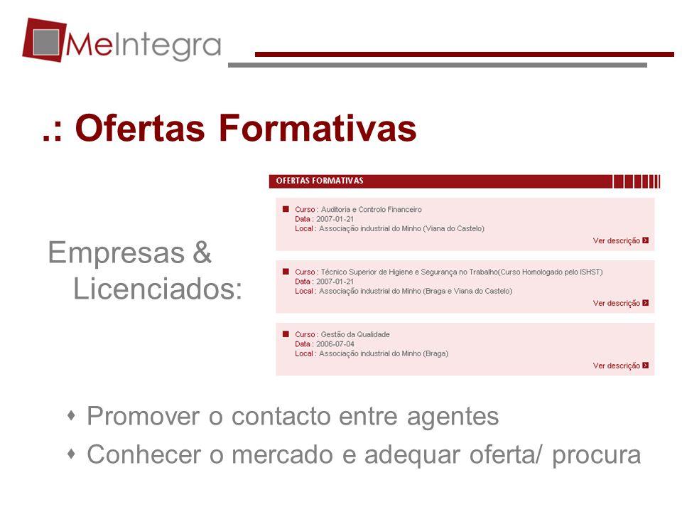 .: Ofertas Formativas Empresas & Licenciados: