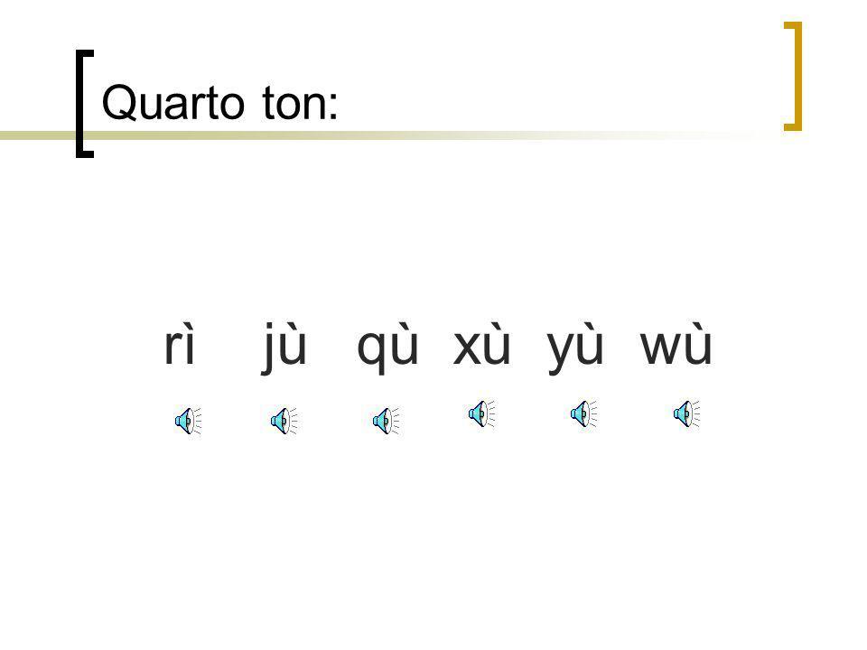 Quarto ton: rì jù qù xù yù wù