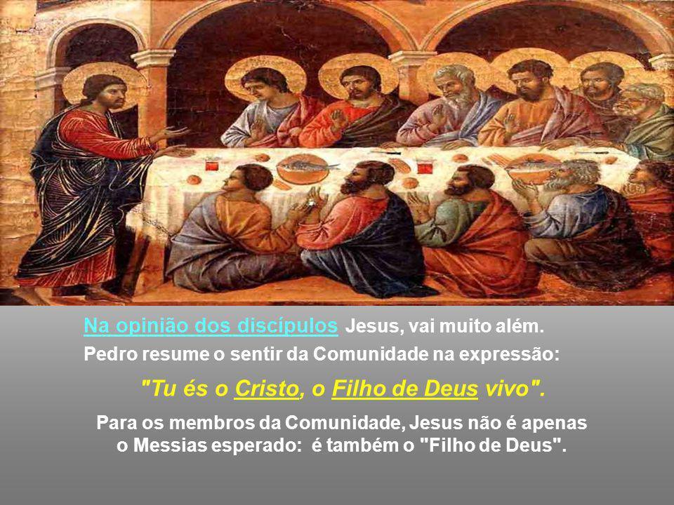 Tu és o Cristo, o Filho de Deus vivo .