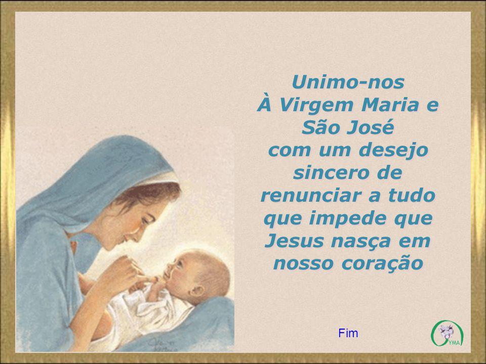 À Virgem Maria e São José
