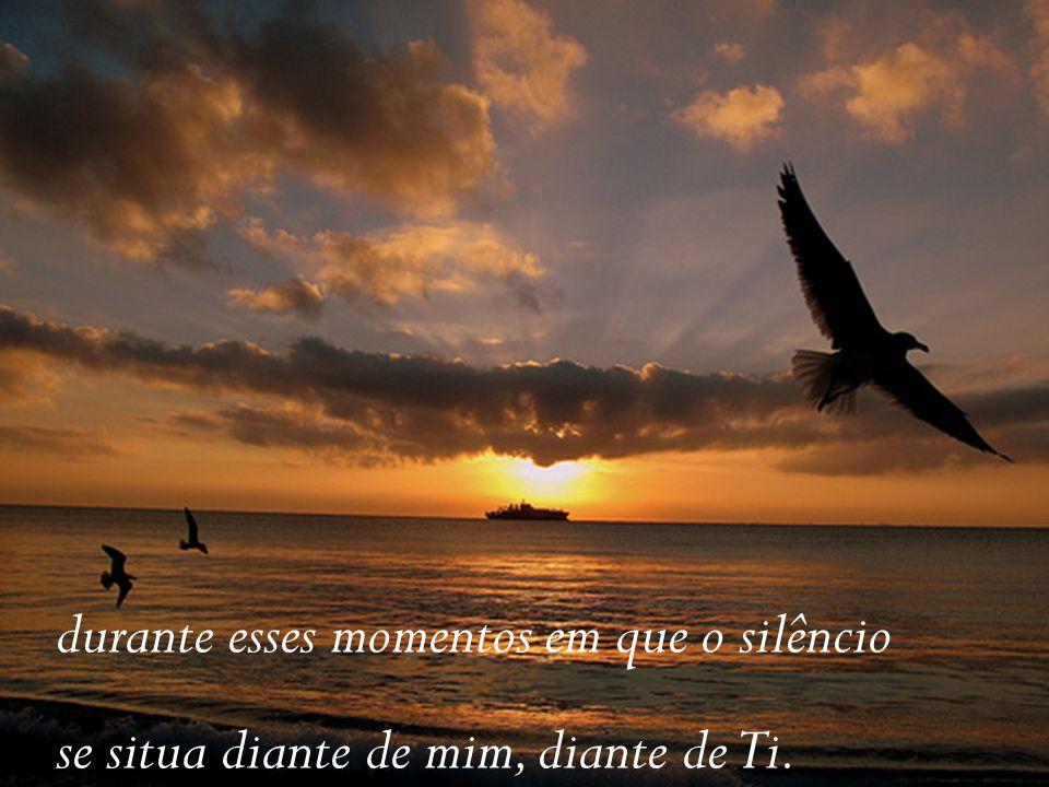 durante esses momentos em que o silêncio