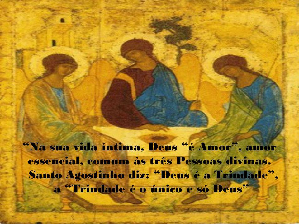 Santo Agostinho diz: Deus é a Trindade ,