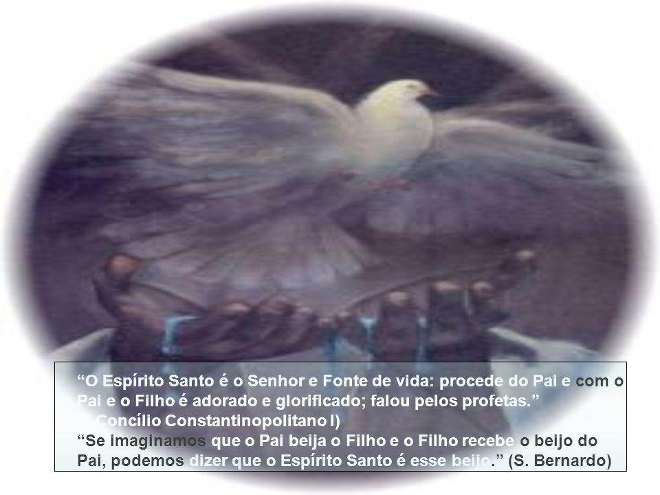 O Espírito Santo é o Senhor e Fonte de vida: procede do Pai e com o Pai e o Filho é adorado e glorificado; falou pelos profetas.