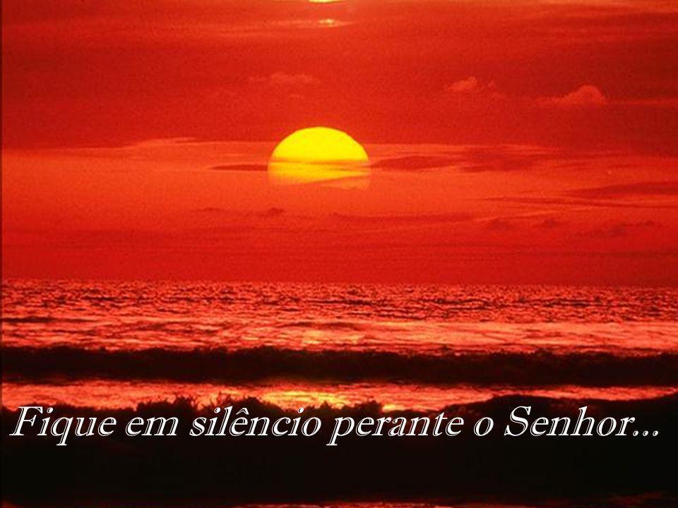 Fique em silêncio perante o Senhor...