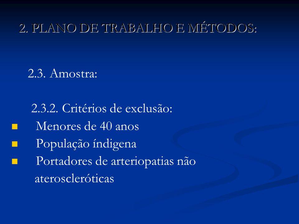 2. PLANO DE TRABALHO E MÉTODOS:
