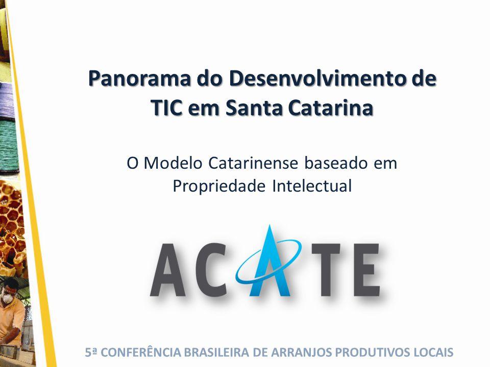 Panorama do Desenvolvimento de TIC em Santa Catarina