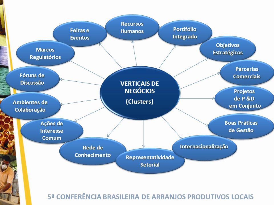 VERTICAIS DE NEGÓCIOS (Clusters)
