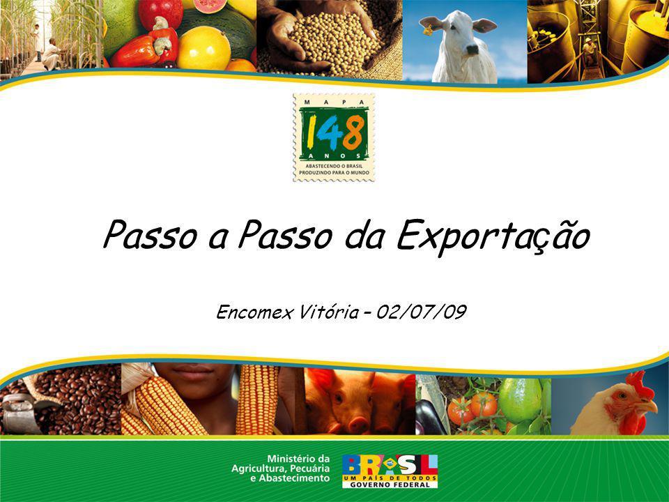 Passo a Passo da Exportação Encomex Vitória – 02/07/09