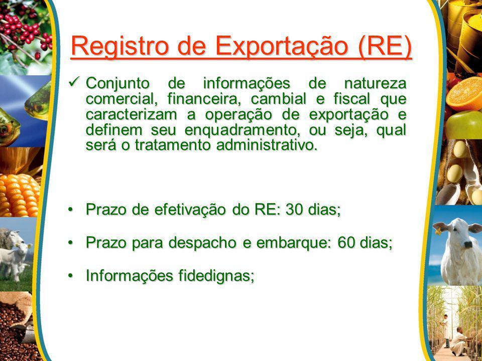 Registro de Exportação (RE)