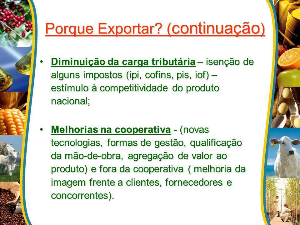 Porque Exportar (continuação)