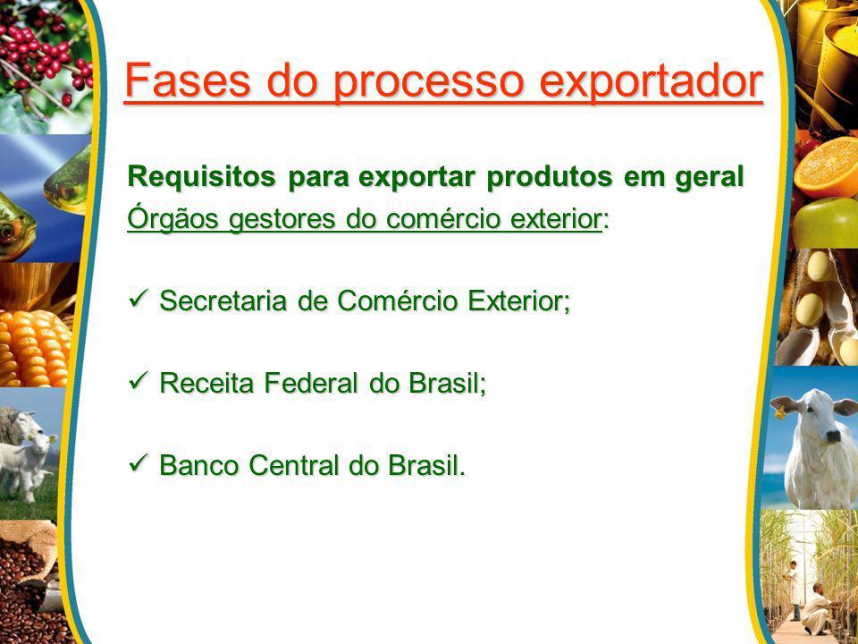Fases do processo exportador