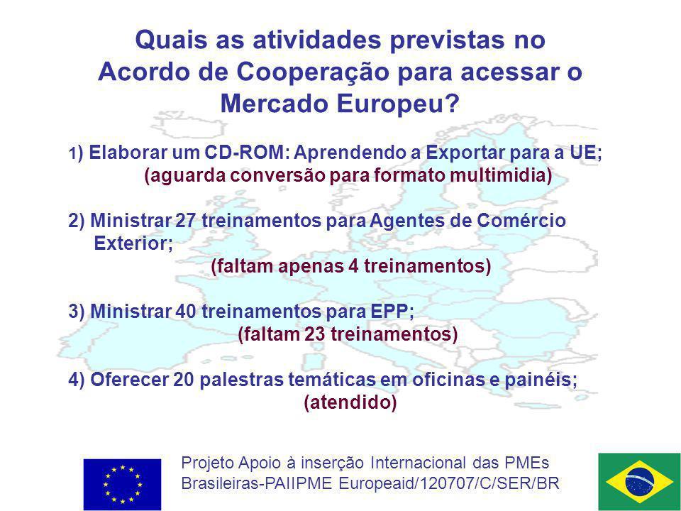 Quais as atividades previstas no Acordo de Cooperação para acessar o